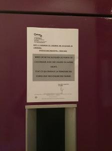 Do NOT block the doors!