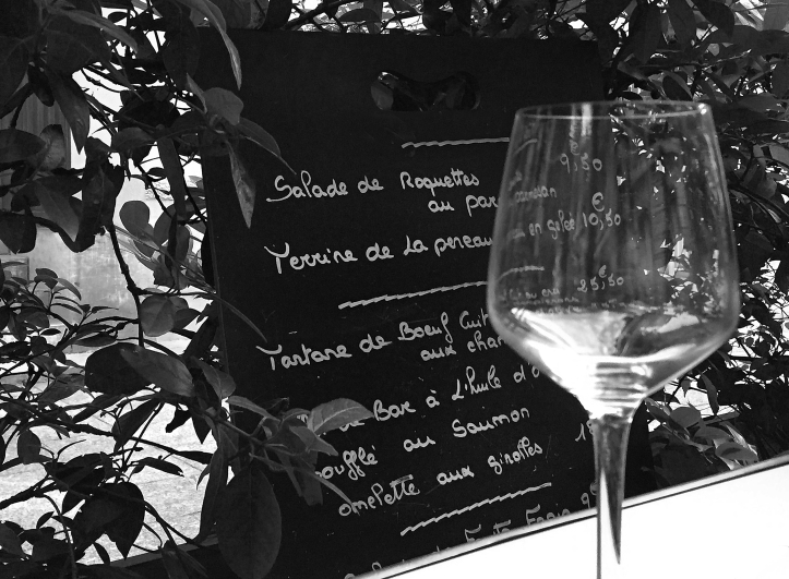 Aug 08 - Le menu et wine