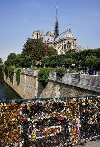 Locks on the Pont de l'Archevêché, the
