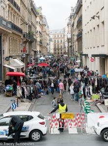 A recent vide grenier in the 2ieme Arr in Paris